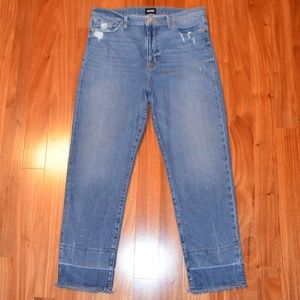 Hudson Zoeey high rise ankle straight leg jeans